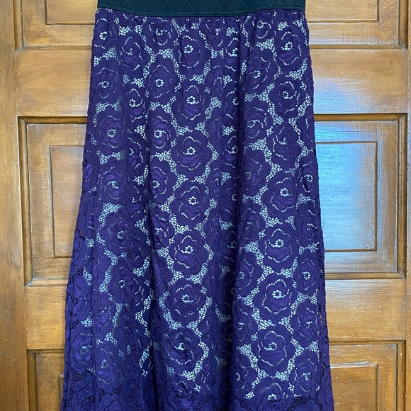 LLR Lace Lola in a deep plumb color.